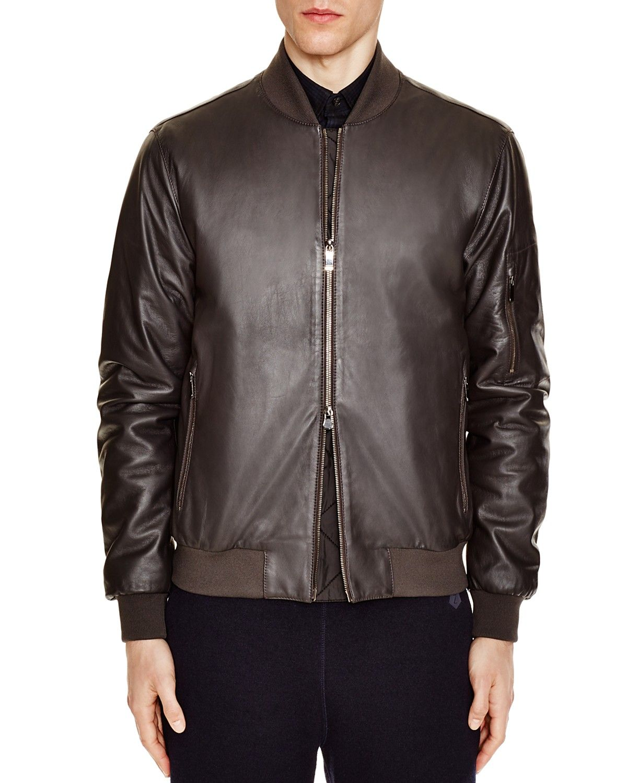d95da374ce Z Zegna Slim Fit Lambskin Leather Bomber   Menswear and accessories ...