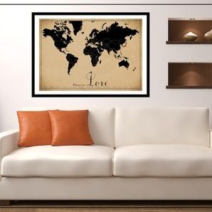 I have one of these in my loungeroom in red and vintage tea stain i have one of these in my loungeroom in red and vintage tea stain framed world mapvintage gumiabroncs Choice Image