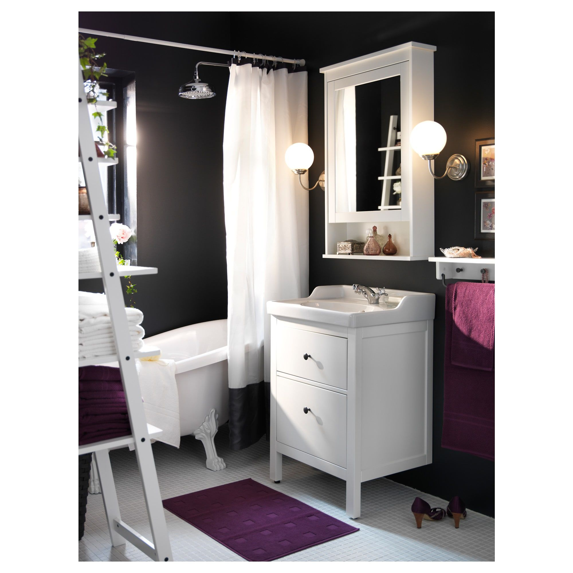 HEMNES Mirror cabinet with door white in Bathroom