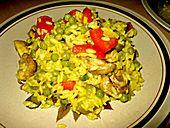 Pilz-Gemuesepaella