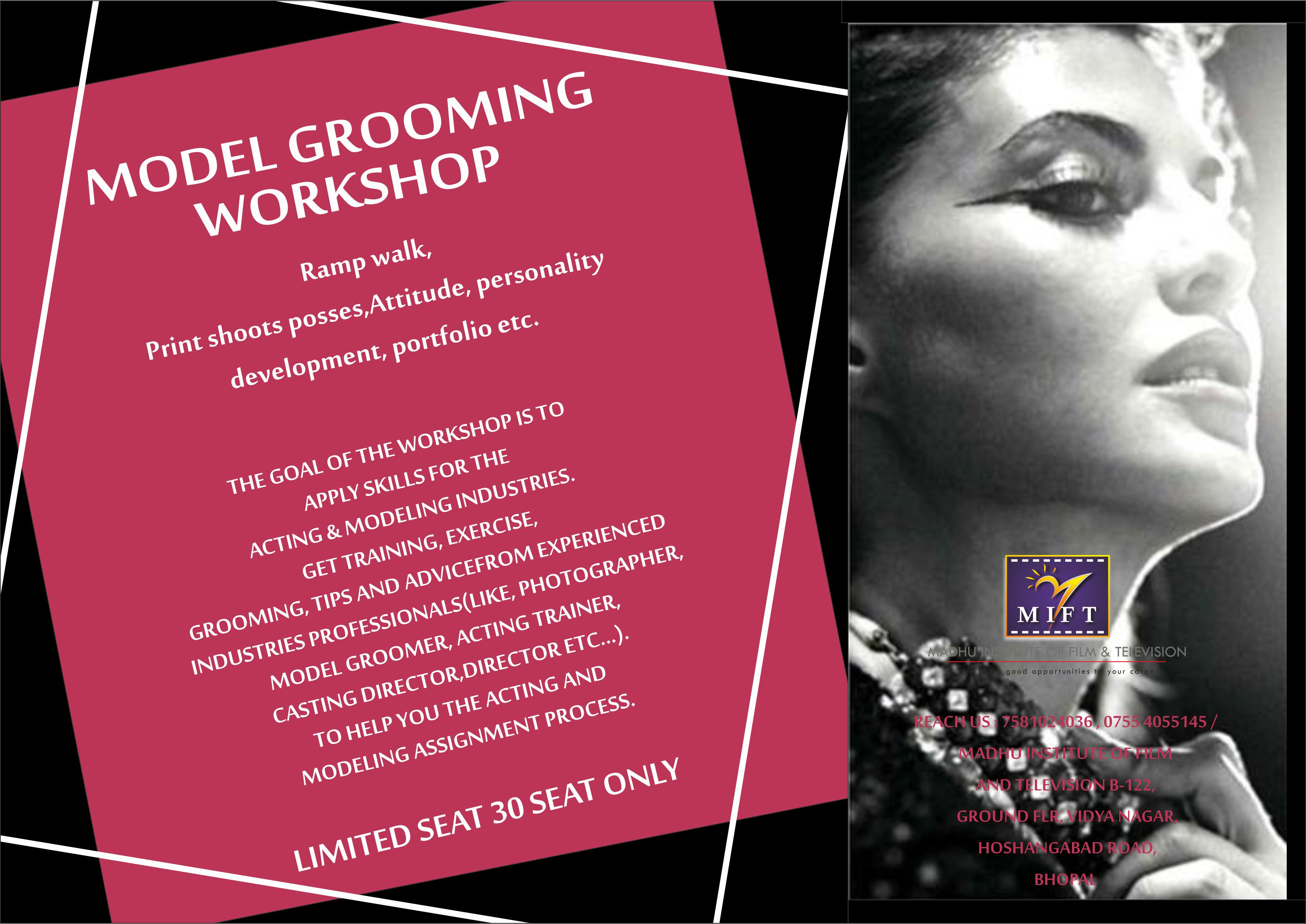Registration open Model Grooming hurry up guys