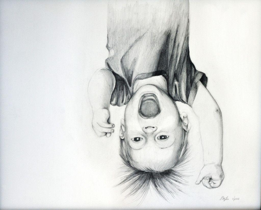 Upside Down Art Daan Donderwinkel 11 In Front Of The Painting By Cacsar Domela