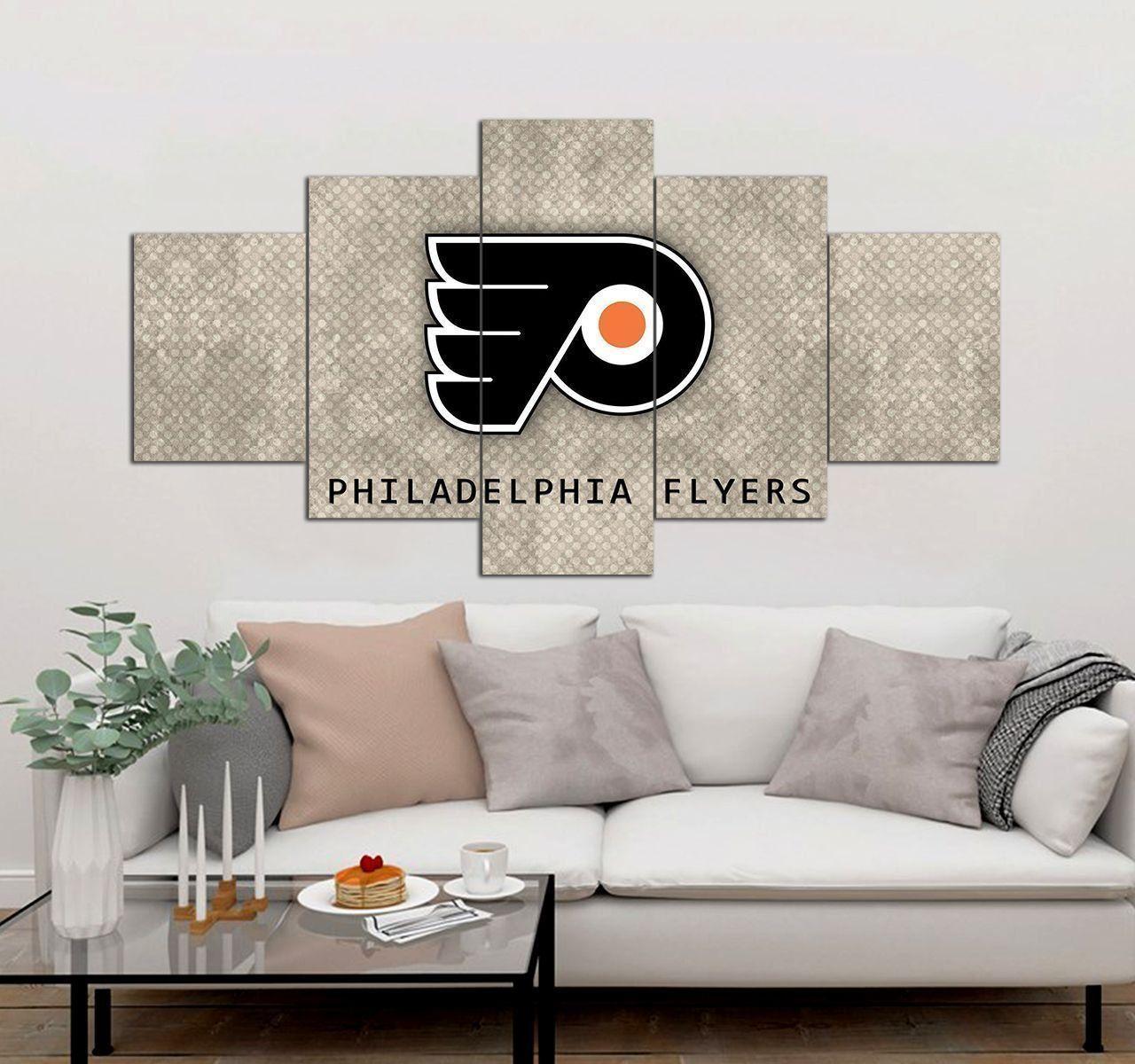 Philadelphia Flyers Canvas Wall Art 5 Piece Canvas Art Prints Set De Trong 2020
