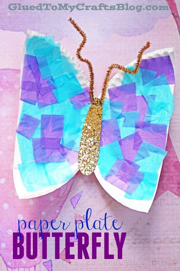 Paper Plate Butterfly - Kid Craft Idea - Spring Themed Art Project for Children - Toddler Friendly
