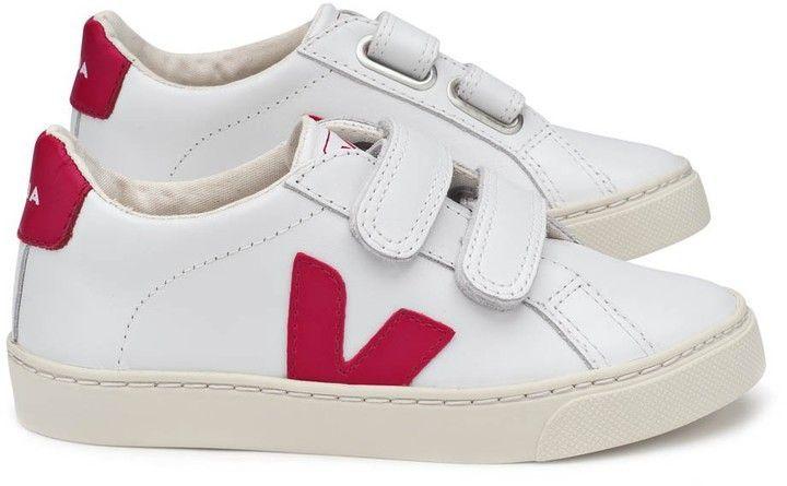 Mode Sneakers Esplar Kids Pinterest Veja Red Velcro Shoes Leather wz8qCax