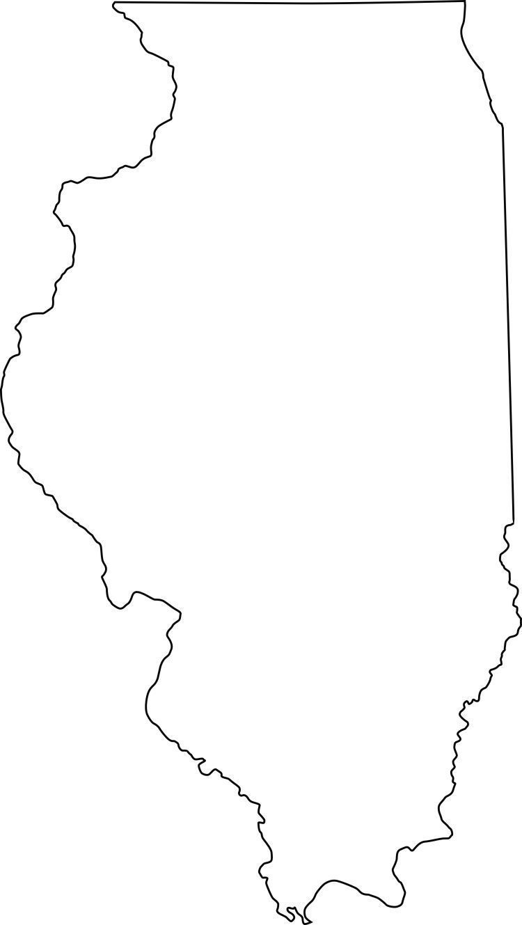 Illinois State Outline Illinois Jpg Contour USA ZIP Codes - Us zip codes in numerical order