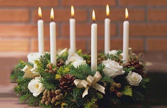 centros-de-mesa-navidenos-blancos manualidades Pinterest