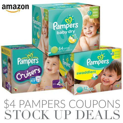 4 Amazon Pampers Diapers Coupons Pampers Diapers Diaper Coupon