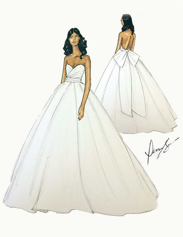 EXCLUSIVE! Gabrielle Union\'s Wedding Dress Sketch Revealed | Wedding ...