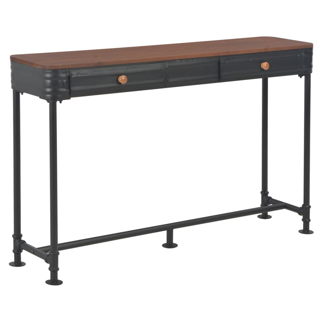 vidaXL Console Table with 2 Drawers 120x30x75 cm Solid Fir Wood