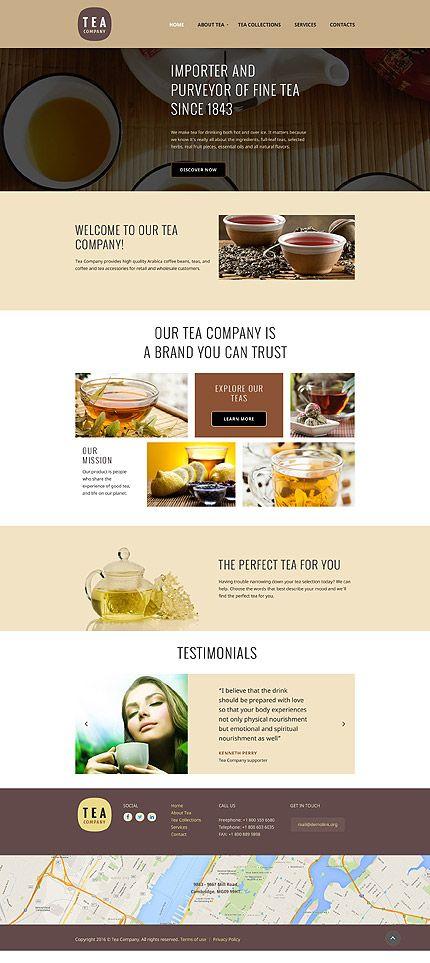 Pin By Entheosweb On Website Templates Tea Website Website Template Restaurant Website Design