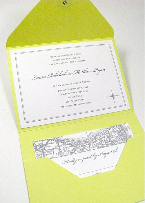 map wedding invitations | ... Map Wedding Invitations Pocketfold | Digby & Rose Invitations DC