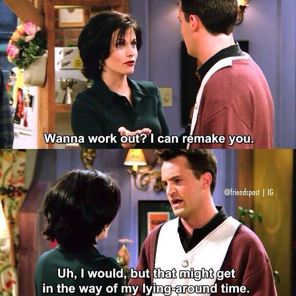 15 Things Only Girls Who Are Not Athletic At All Understand | Monica and chandler, Friends moments, Friends tv show