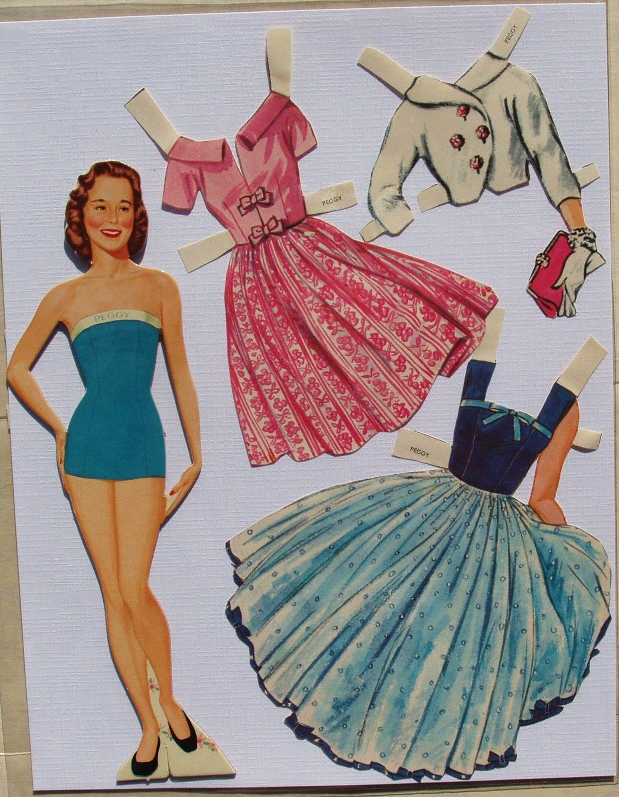 Lennon Sisters Paper Dolls 1958 ALL Four Sisters Original Folder PRE CUT   eBay