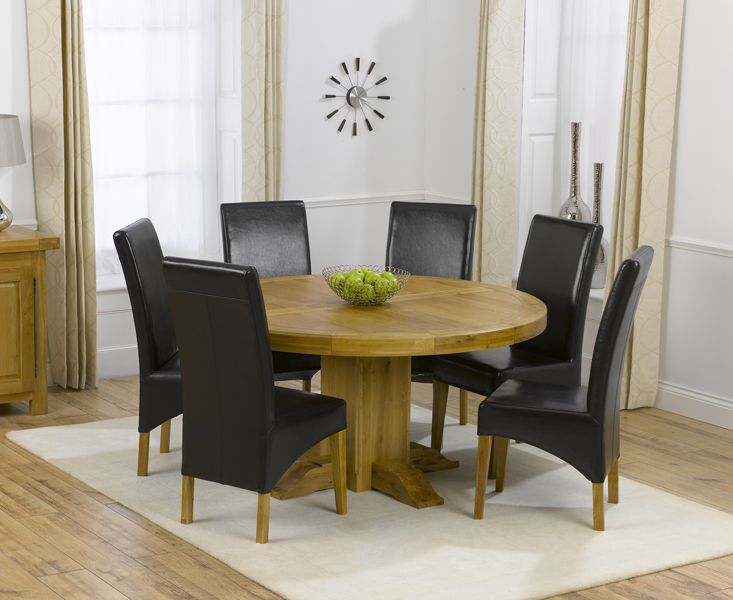 Torino Solid Oak 150Cm Round Pedestal Dining Table And 6 Cannes New Cheap Dining Room Tables For Sale Inspiration Design