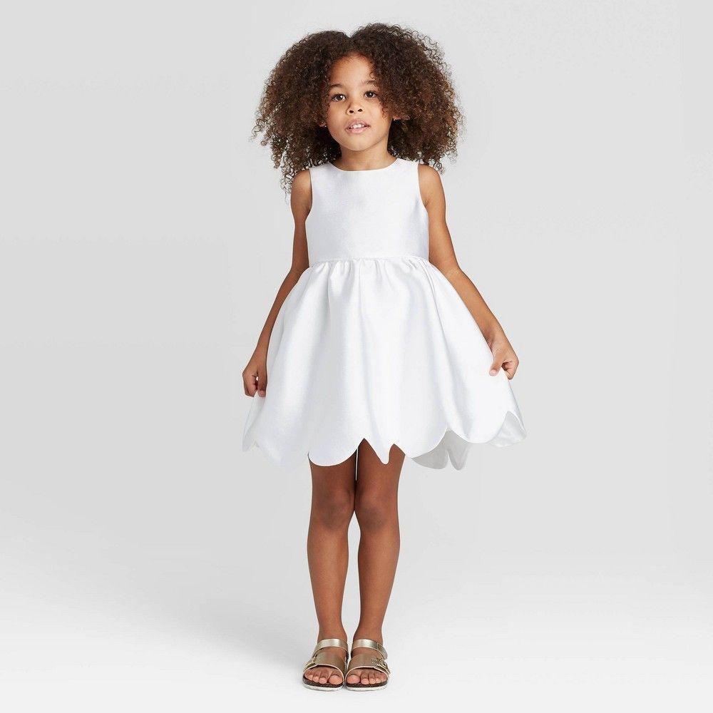 Zenzi Toddler Girls Scallop Hem Flower Girl Dress Off White 5t Flower Girl Dresses Girls Stripped Dress Dresses [ 1000 x 1000 Pixel ]