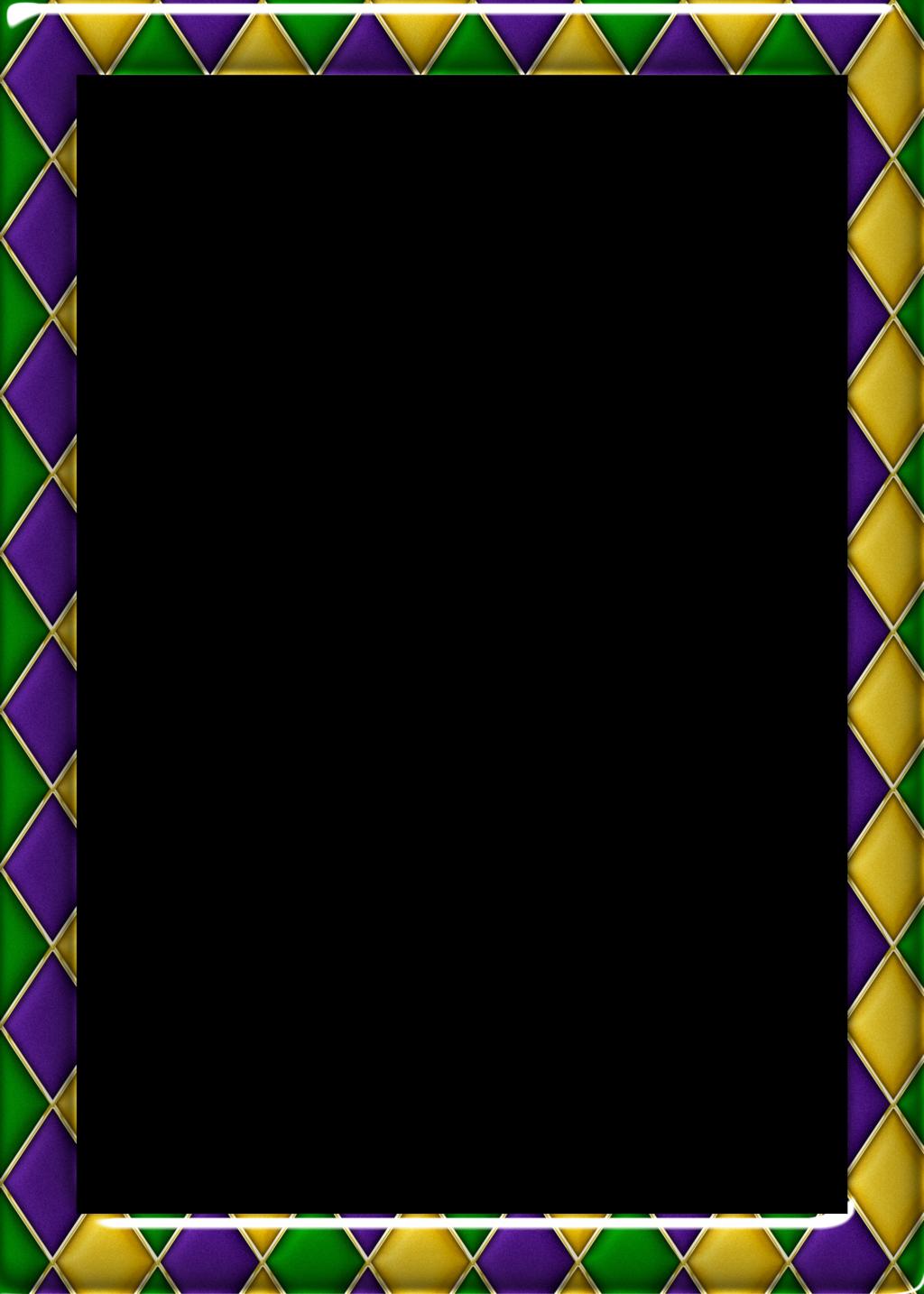 FREE 5x7 Harlequin Pattern 1 Mardi Gras Frame by RedHeadFalcon ...