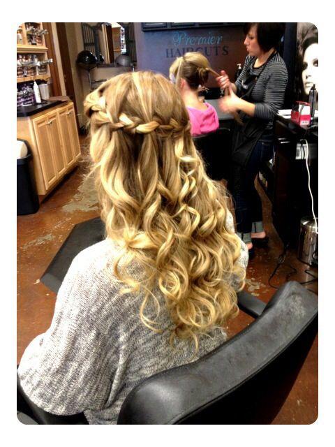 I loved my senior year prom hair!