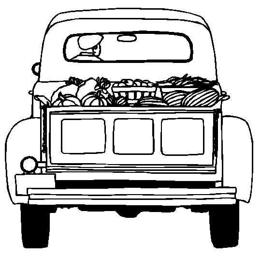 Truckload Full Of Food From Harvest Ready To Go To The Store Free Printable Coloring And Ac Truck Coloring Pages Christmas Red Truck Christmas Coloring Pages