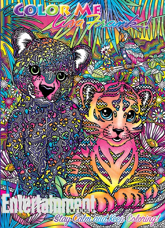 Get Ready To Bust Out The Neon Gel Pens A Lisa Frank Coloring Book For Adults Is On Way Color Me Will Hit 13000 Dollar General