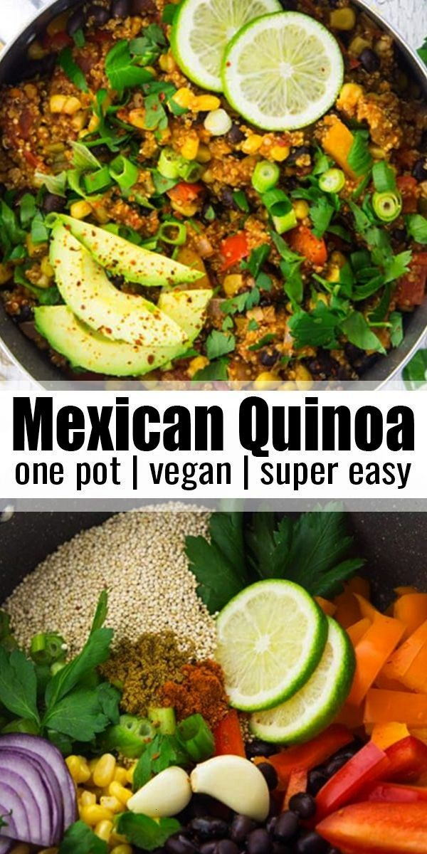 Pot Mexican Quinoa -  This one pan Mexican quinoa with black beans and corn is super easy to make,
