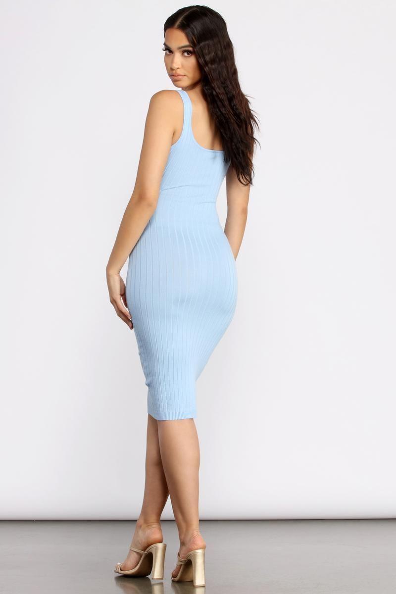 Allure Them All Scoop Neck Tank Midi Dress Midi Dress Style Dresses Midi Dress [ 1200 x 800 Pixel ]