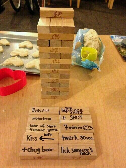 X-rated jenga | YOLO! <3 | Adult party games, Party games