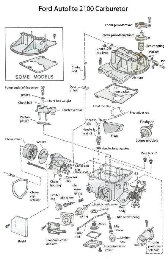 2100 carburetor exploded view | 1965 Mustang | Pinterest ...
