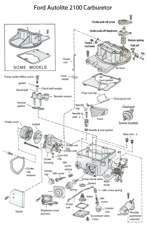 specs ford 289 engine diagram 2100 carburetor exploded view  with images  1965 mustang  2100 carburetor exploded view  with