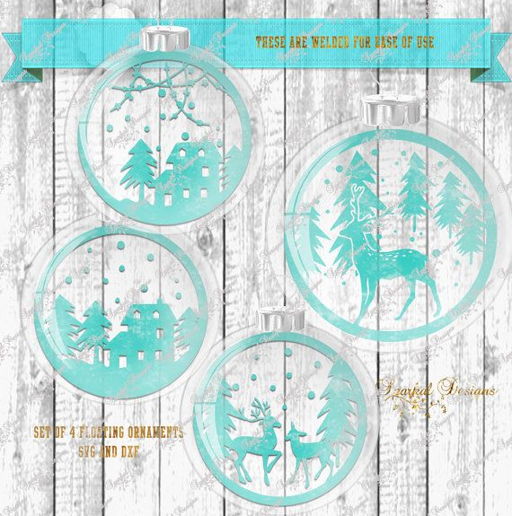 christmas floating ornament svg winter scenes for inside of ornament