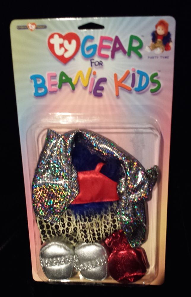 ty gear beanie kids 80s party time outfit costume halloween sealed