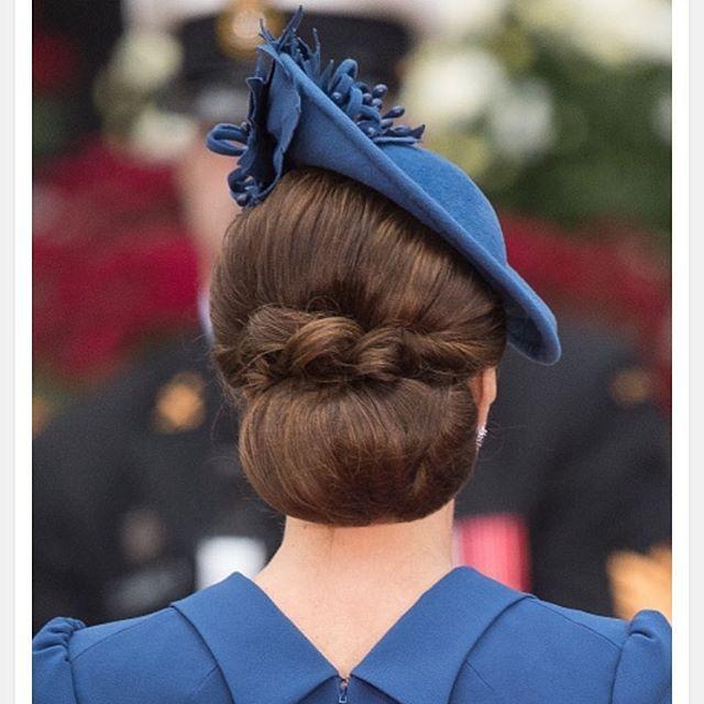 Perfect. #catherinemiddleton #katemiddleton #duchessofcambridge #hat #bun