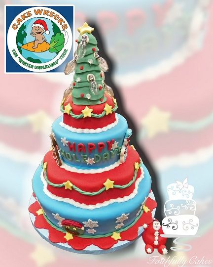 Made for Cake Wrecks , Happy Hole Days book signing. Christmas Cake