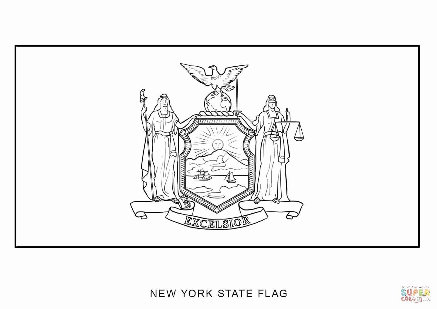 Arizona State Flag Coloring Page Luxury New York Coloring