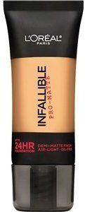 L'Oreal Paris Infallible Pro-Matte Up to 24 Hr Demi-Matte Finish Foundation, Golden Beige