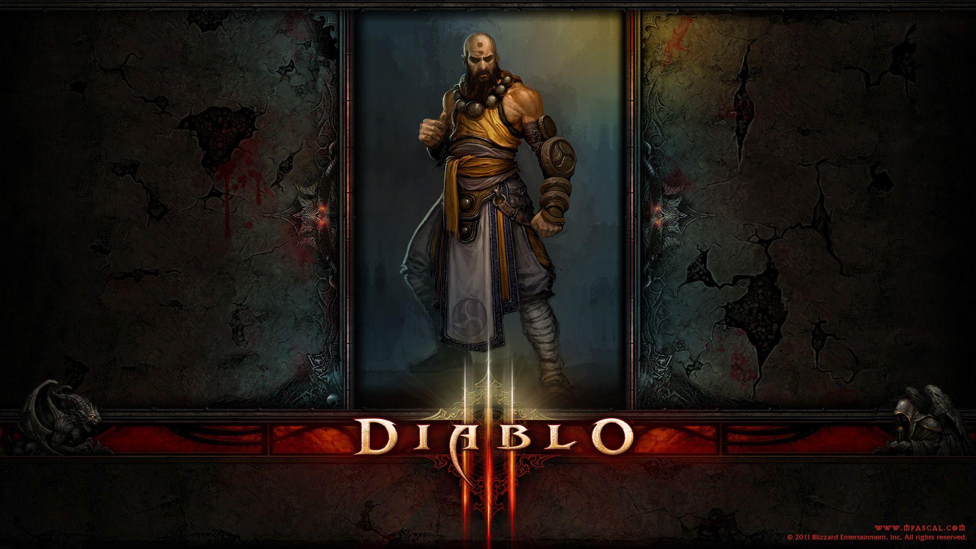 Diablo 3 Monk Wallpaper By Panperkin On Deviantart Diablo 3 Wallpaper Diablo Characters