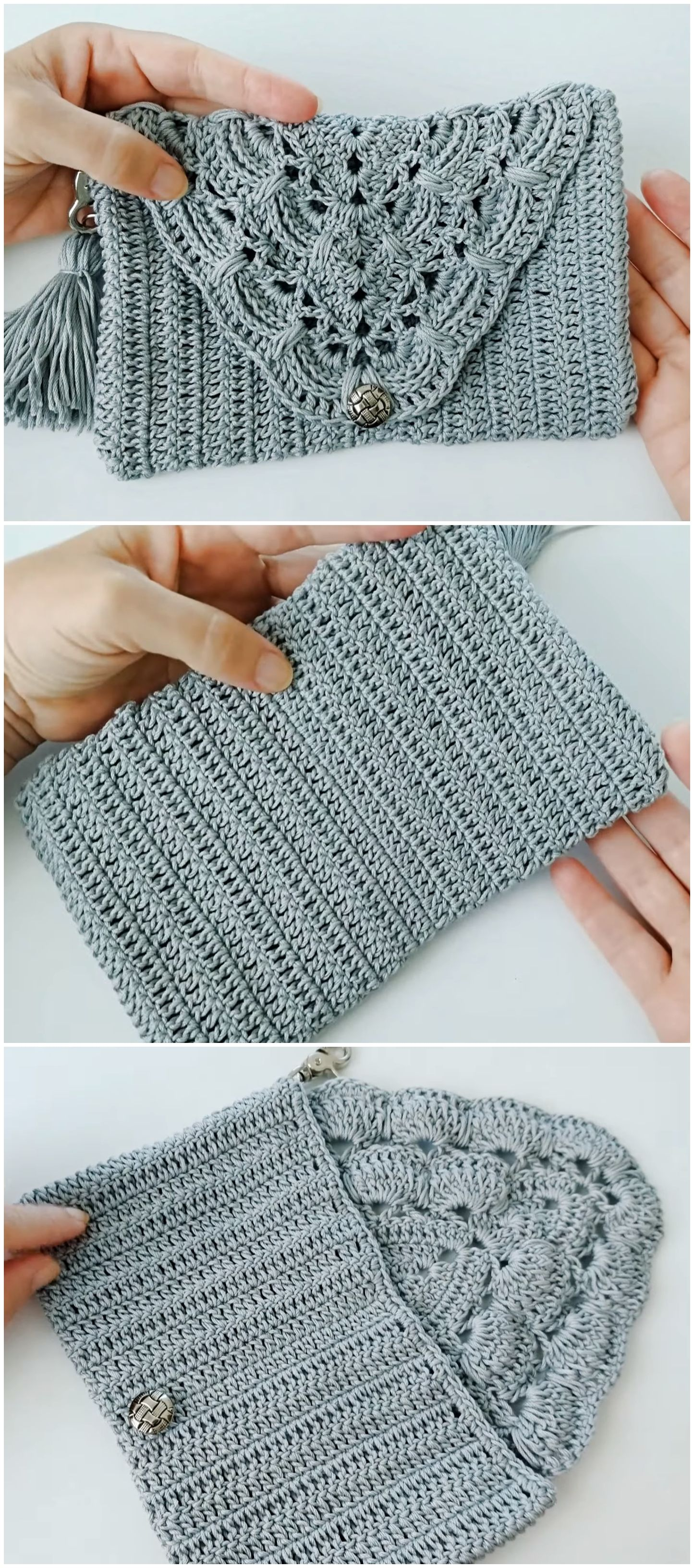 Crochet Beautiful Clutch Video Tutorial