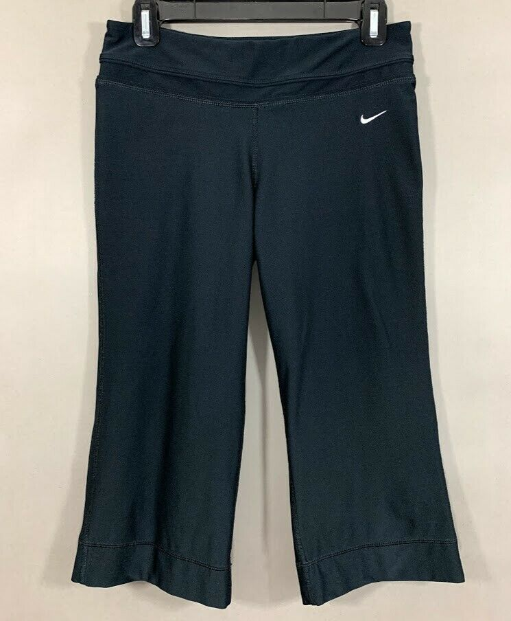 Nike Womens Capri Pants Black Yoga Cropped Stretch Athletic Polyester Size Small Nike Womens Capri Pants Black Yoga
