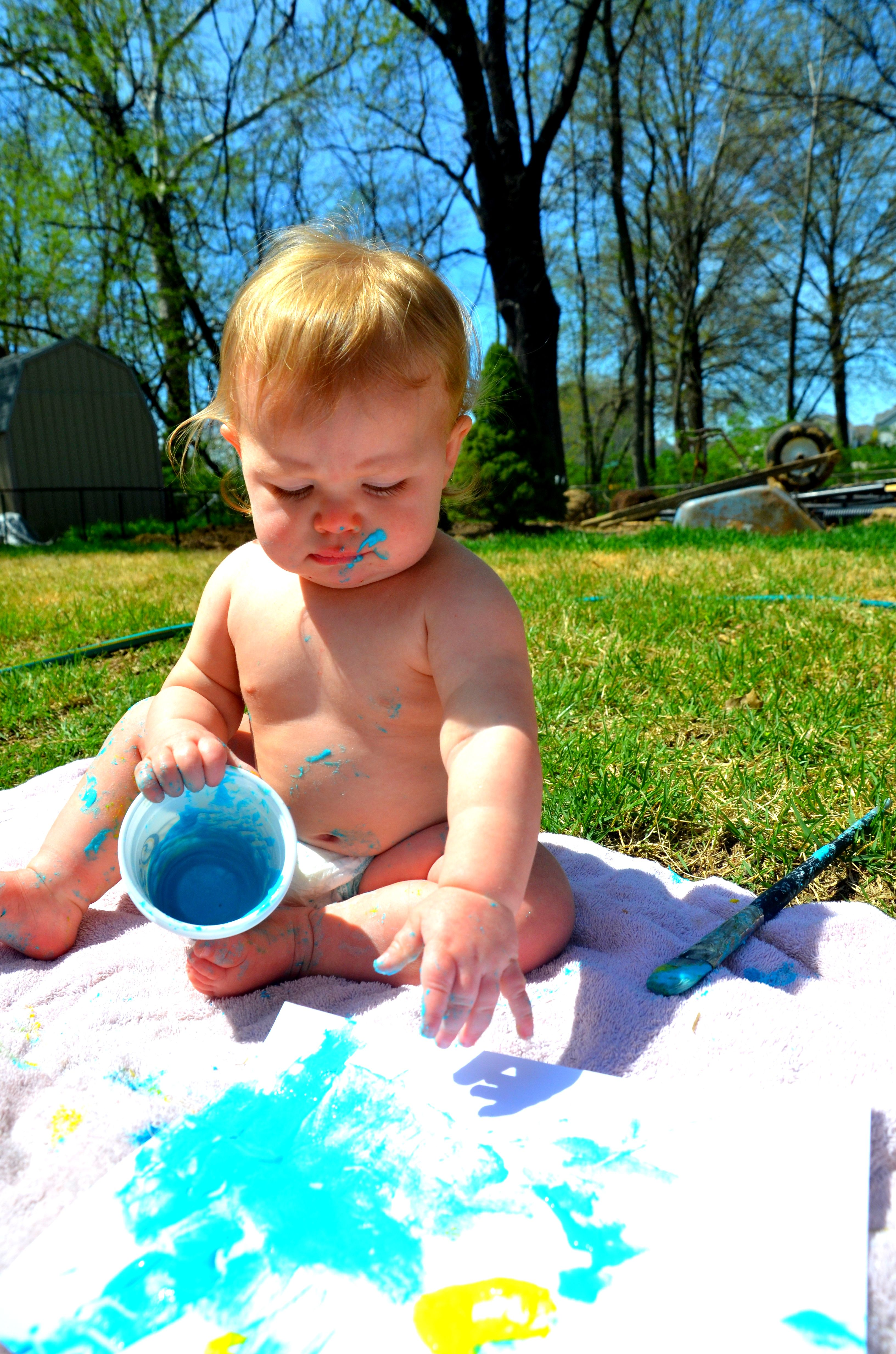Safe Paint For Baby Flour Water And Food Coloring Warning Dogs