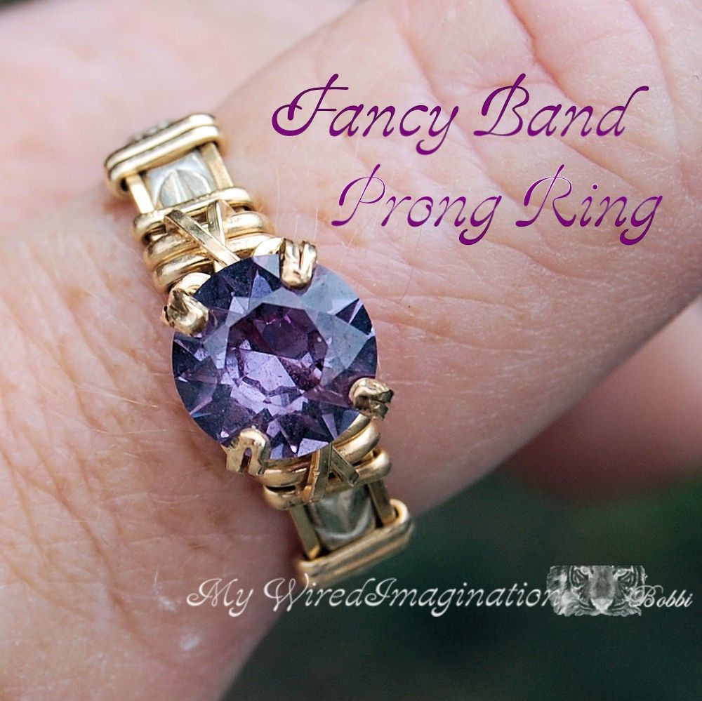 Wire Wrap Prong Ring Tutorial, Fancy Band Prong Ring PDF File, Prong ...