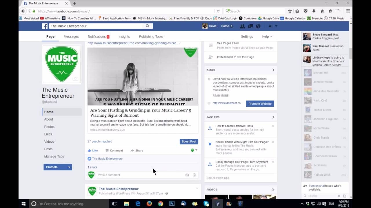 How To Boost Your Post On Facebook For Musicians Facebook Posts Musician Boosting