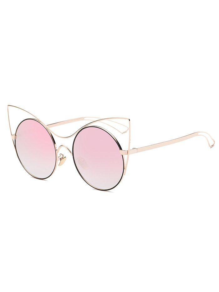 Outdoor Hollow Out Leg Cat Eye Mirror Sunglasses