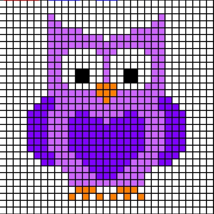 Free Animal Pixel Charts For Letters Of The Alphabet M N O Left In Knots Simple Cross Stitch Cross Stitch Owl Cross Stitch