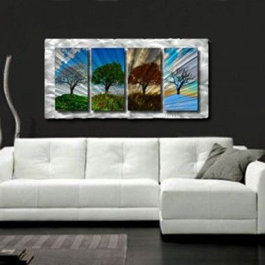 "All My Walls Four Seasons Contemporary Wall Art - 23"" x 47"" - NOR00005"