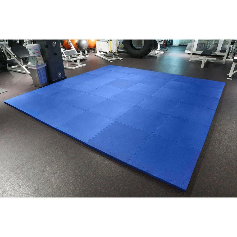 Meister 1 5 Puzzle Floor Mats Extra Thick Home Gym Play Foam Wrestling Blue Health Fitness Workout Home Gym At Home Gym Folding Gym Mat