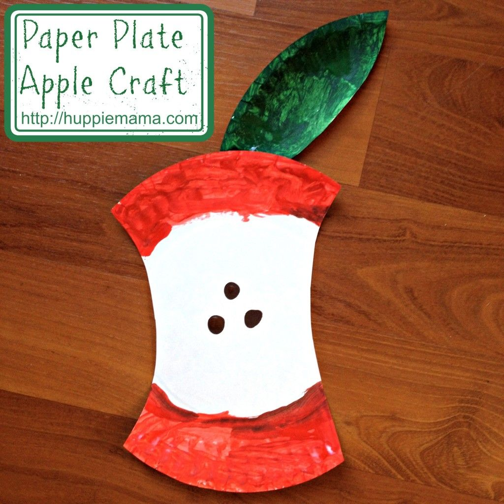 I found this cute Paper Plate Apple Craft on Pinterest and had to make it with & I found this cute Paper Plate Apple Craft on Pinterest and had to ...