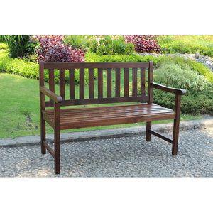 International Caravan Highland Acacia Wood Garden Bench Wood Patio Patio Bench Outdoor Bench