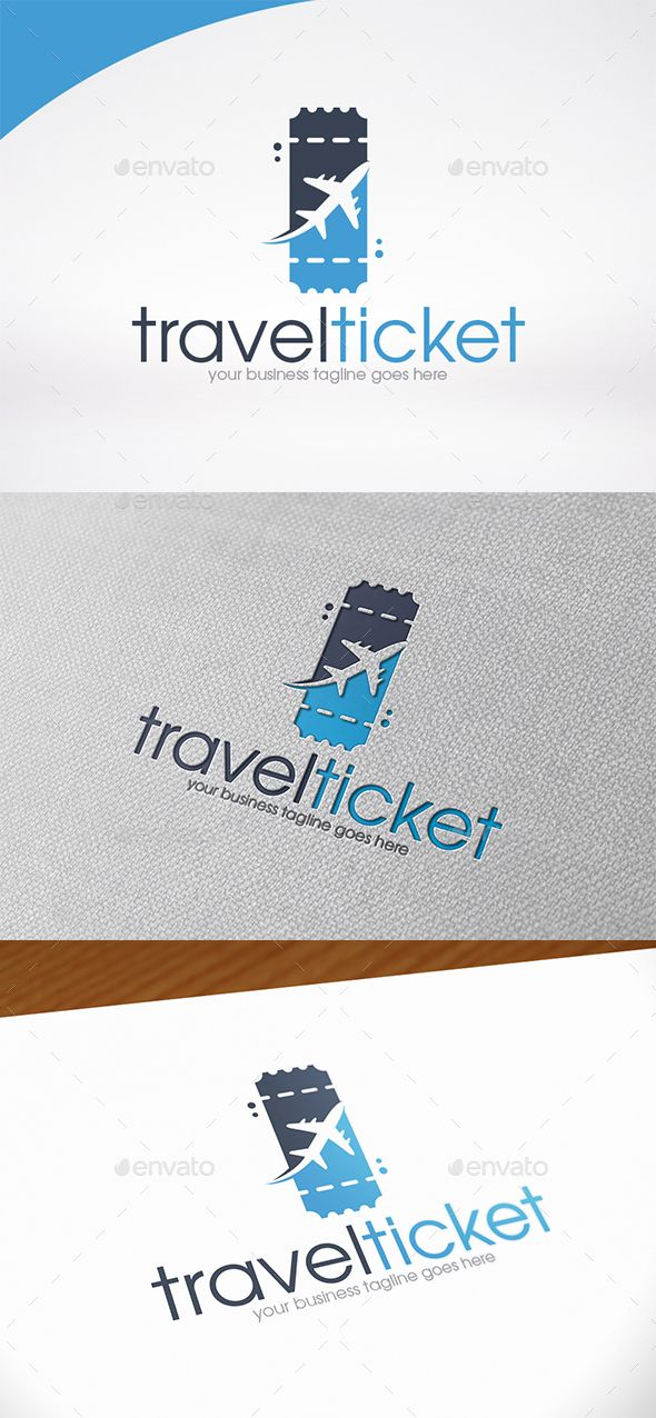Pin by AT88 Studio on LOGO Designs | Pinterest | Travel tickets ...