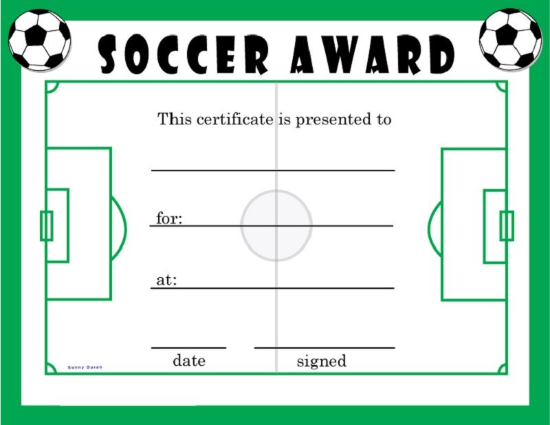 Soccer End Of Season Award Certificate Free Download | Misc Crafts