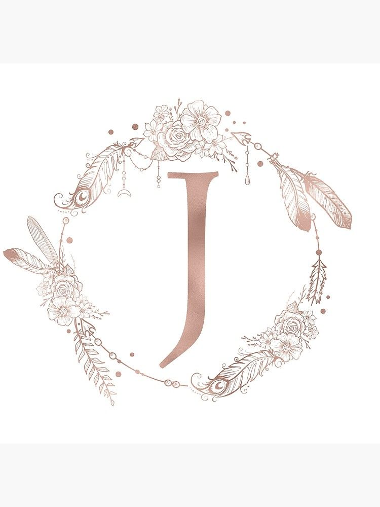 Letter J Rose Gold Pink Initial Monogram Throw Pillow By Naturemagick In 2021 Rose Gold Aesthetic Rose Gold Pink Letter J